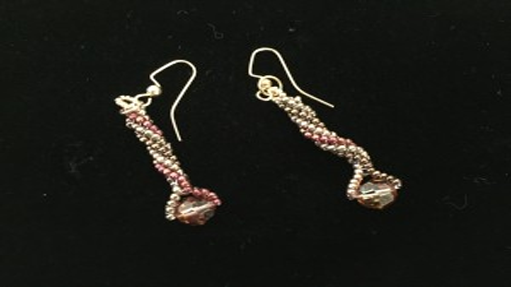 Tutorial: Tubular Twisted Herringbone Earrings